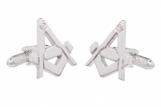 Square & Compass Masonic Cufflinks